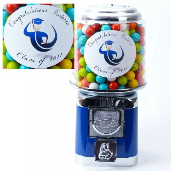 Personalized Graduation Gumball Machine - Gumball Machine Warehouse