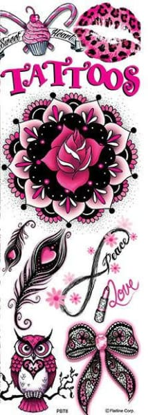 Pink And Black Sugar Tattoos 8 - Gumball Machine Warehouse