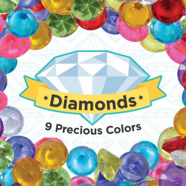 Plastic Diamonds In 1 Inch Capsules - Gumball Machine Warehouse