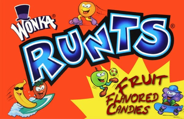 Runts Candy Machine Label - Gumball Machine Warehouse