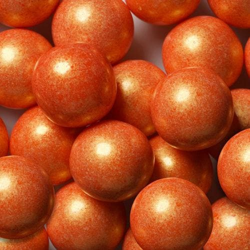 Shimmer Orange Gumballs (700 Count) - Gumball Machine Warehouse