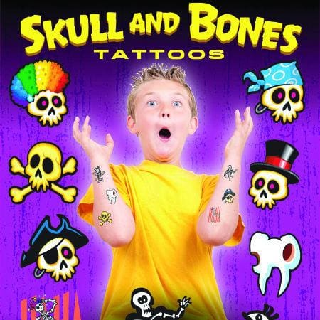 Skull And Bones Tattoos In 1 Inch Toy Capsules - Gumball Machine Warehouse