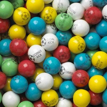 Soccer Ball Gumballs (850 Count) - Gumball Machine Warehouse
