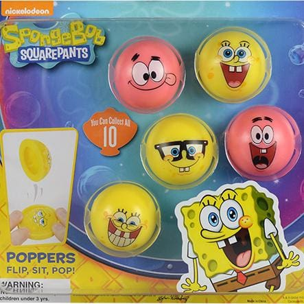 Spongebob Squarepants Poppers In 2 Inch Capsules - Gumball Machine Warehouse