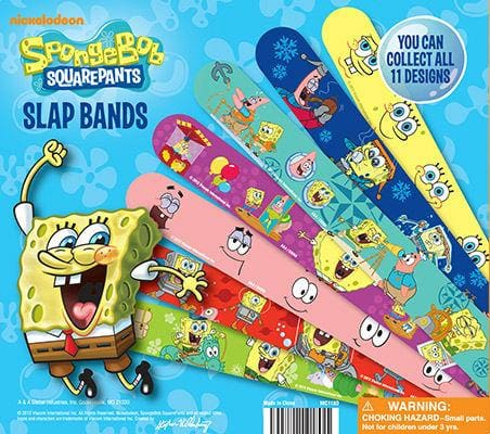Spongebob Squarepants Slap Bracelets In 2 Inch Toy Capsules - Gumball Machine Warehouse