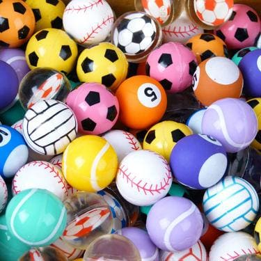 Sports Mixed Bouncy Balls 27Mm - Gumball Machine Warehouse