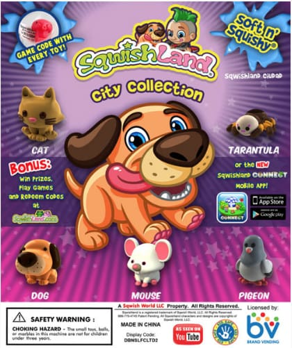 Sqwishland City 1 Inch Toy Capsules - Gumball Machine Warehouse