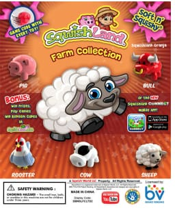 Sqwishland Farm 1 Inch Toy Capsules - Gumball Machine Warehouse