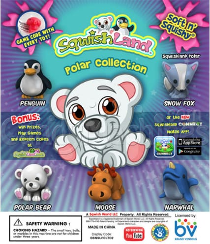 Sqwishland Polar 1 Inch Toy Capsules - Gumball Machine Warehouse