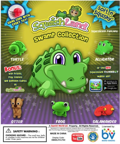 Sqwishland Swamp 1 Inch Toy Capsules - Gumball Machine Warehouse
