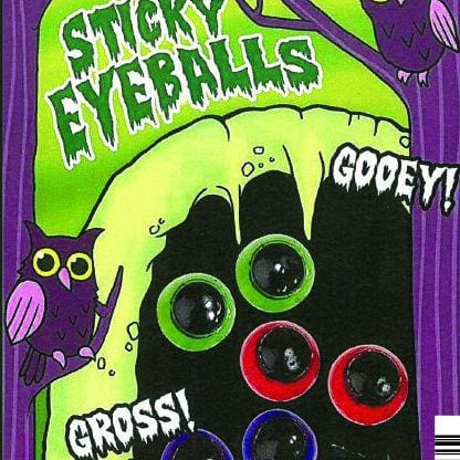 Sticky Eyeballs In 1 Inch Toy Capsules - Gumball Machine Warehouse
