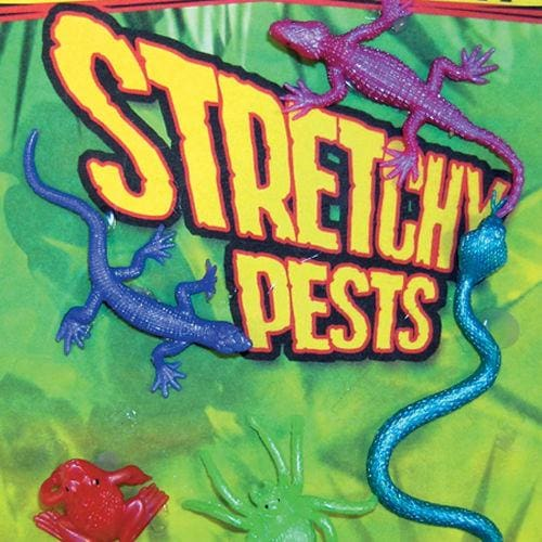 Stretchy Pests Vending Toys In 1 Inch Toy Capsules - Gumball Machine Warehouse