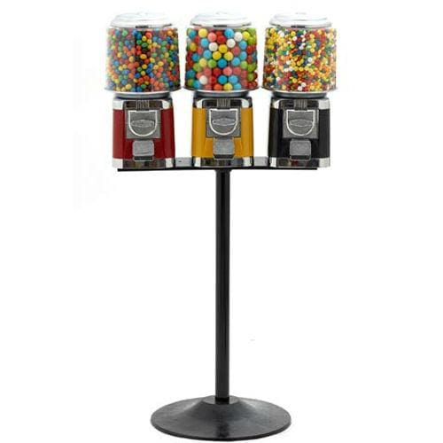 Triple All Metal Gumball Machines - Gumball Machine Warehouse