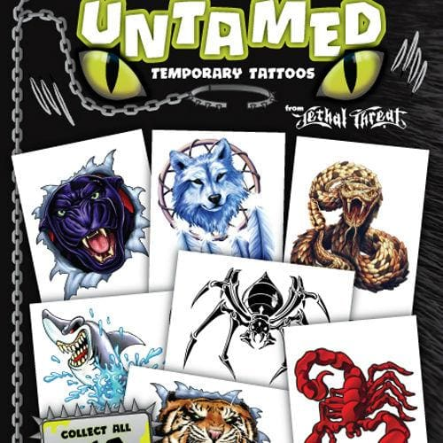 Untamed Tats By Lethal Threat Vending Tattoos In 1 Inch Toy Capsules - Gumball Machine Warehouse