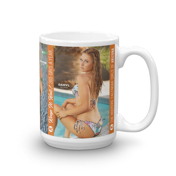 Hooters Calendar Arizona Coffee Mug