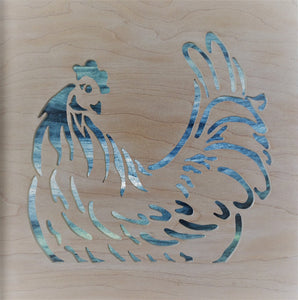 Nesting Hen Cabinet Accent Panel