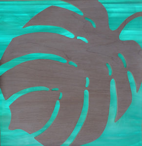 Philodendron Cabinet Accent Panel
