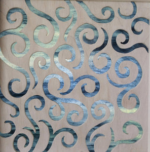 Twisted Swirl Cabinet Panel Insert