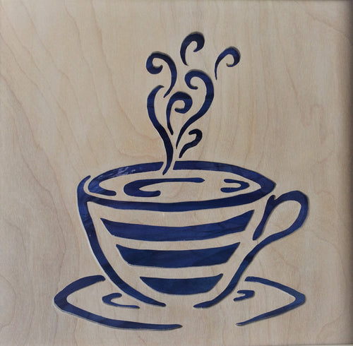 Coffee Cup Cabinet Accent Panel