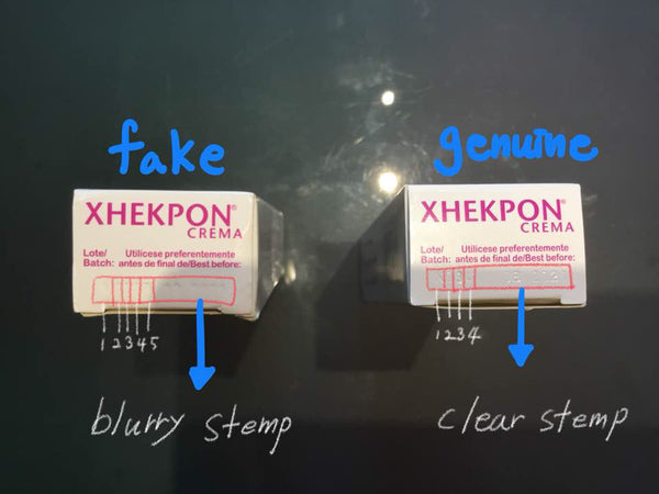 Xhekpon Cream Fake vs Real 2