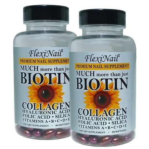 DOUBLE PACK: Premium Nail Supplement - Much more than just BIOTIN (Made in USA)