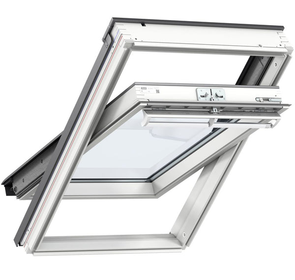 Velux GGL FK06 206621U White Paint Centre-Pivot Window 66cm x 118cm