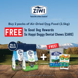 Ziwi, Dog Dry Food, Freebie Bundle with Any 2 Packs of 2.5kg