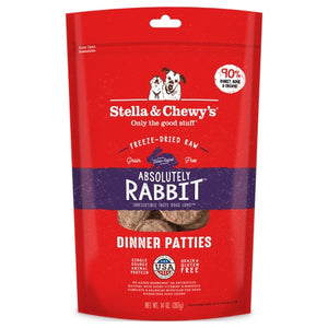 Stella & Chewy's, Dog Food, Freeze Dried, Dinner Patties, Absolutely Rabbit