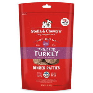 Stella & Chewy's, Dog Food, Freeze Dried, Dinner Patties, Tantalizing Turkey