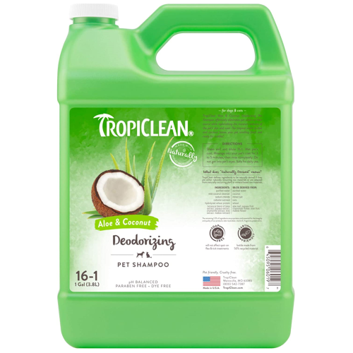 TropiClean, Dog & Cat Hygiene, Shampoos & Conditioners, Deodorising Aloe & Coconut Shampoo