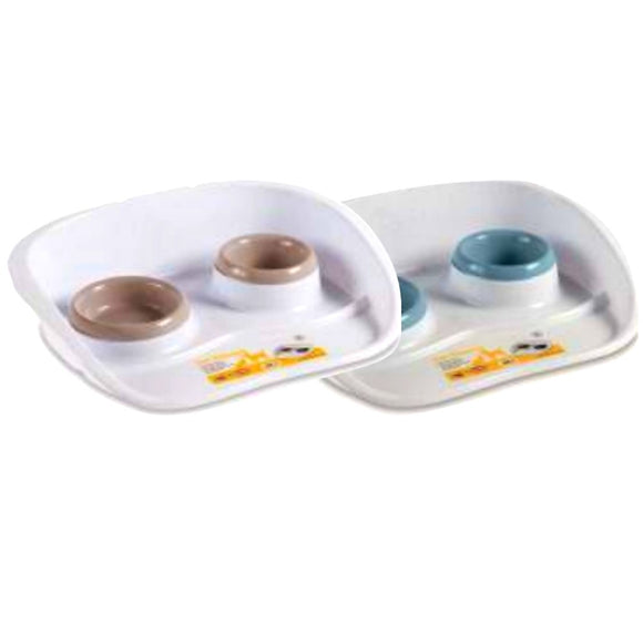 Stefanplast, Dog & Cat Accessories, Bowls & Feeders, Set Dinner (2 Colours)