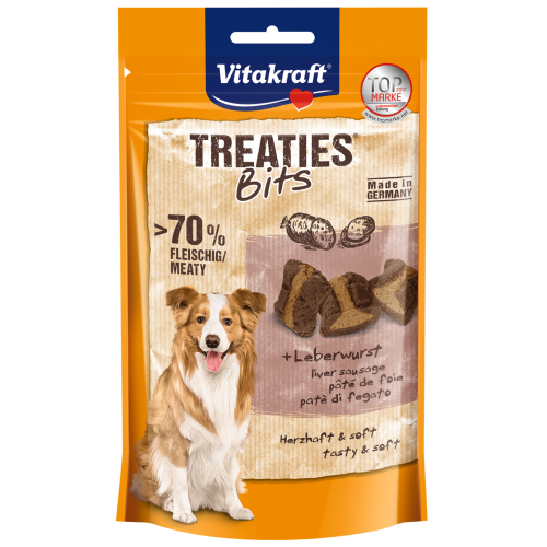 Vitakraft, Dog Treats, Treaties Bits, Liver Sausage (By Carton)