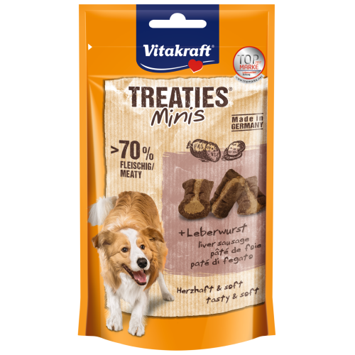 Vitakraft, Dog Treats, Treaties Bits, Minis Liver Sausage (By Carton)