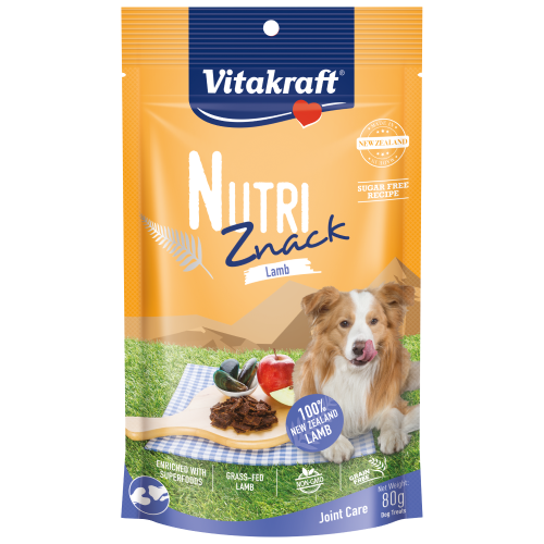 Vitakraft, Dog Treats, Air Dried, Nutri Znack, Lamb Joint Care