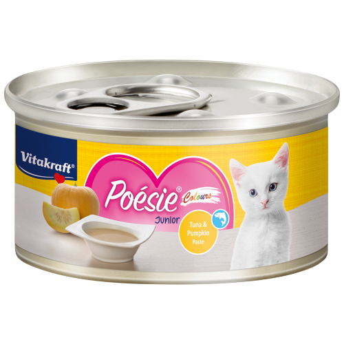 Vitakraft, Cat Wet Food, Poesie Colours, Tuna & Pumpkin Paste for Junior (By Carton)
