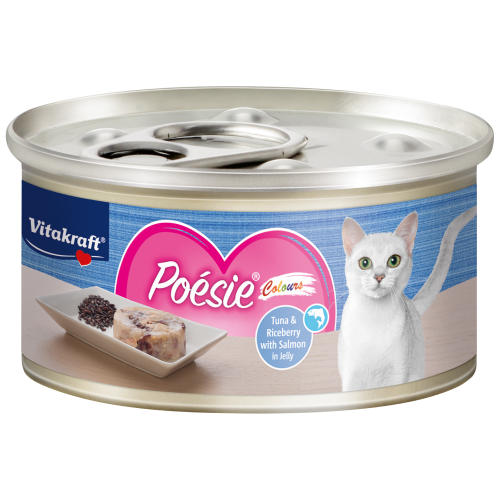 Vitakraft, Cat Wet Food, Poesie Colours, Tuna & Riceberry with Salmon in Jelly (By Carton)