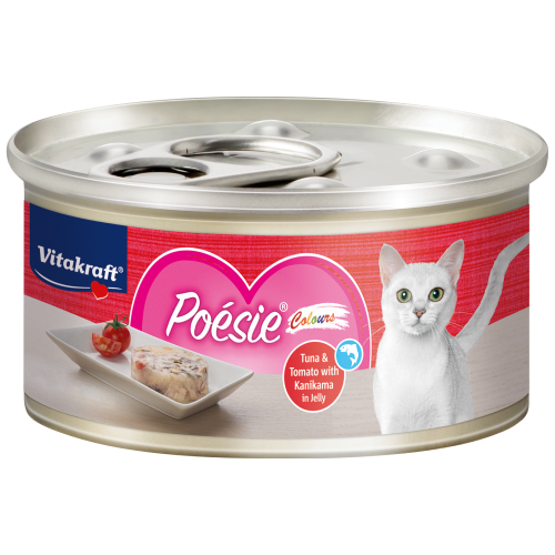 Vitakraft, Cat Wet Food, Poesie Colours, Tuna & Tomato with Kanikami in Jelly (By Carton)