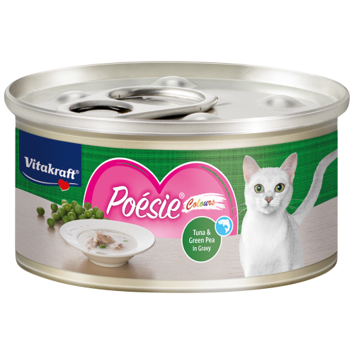 Vitakraft, Cat Wet Food, Poesie Colours, Tuna & Green Pea in Gravy (By Carton)