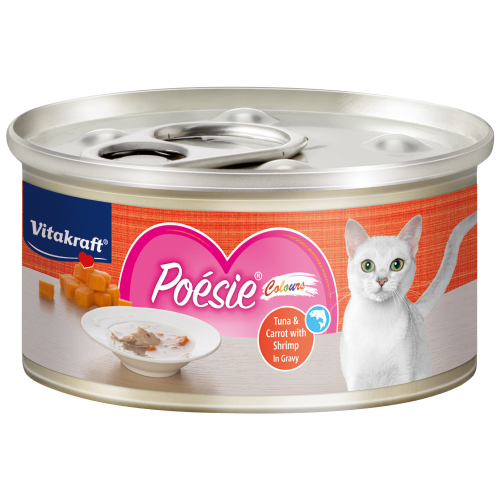 Vitakraft, Cat Wet Food, Poesie Colours, Tuna & Carrot with Shrimp in Gravy (By Carton)