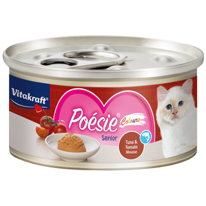 Vitakraft, Cat Wet Food, Poesie Colours, Tuna & Tomato Mousse for Senior (By Carton)