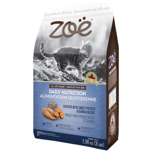 Zoe, Cat Dry Food, Daily Nutrition, Chicken with Sweet Potato & Quinoa (2 Sizes)