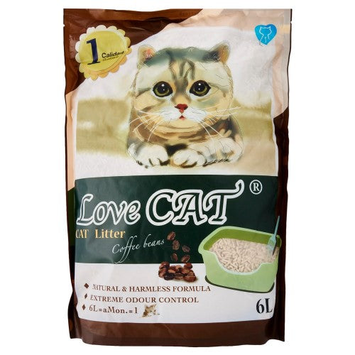 Love Cat, Cat Hygiene, Litter, Tofu, Coffee