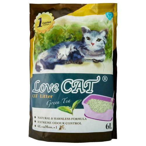 Love Cat, Cat Hygiene, Litter, Tofu, Green Tea