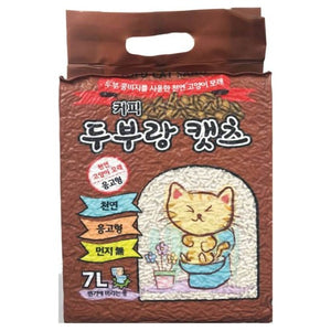 Love Cat, Cat Hygiene, Litter, Tofu, Coffee (Vacuumed Packed)