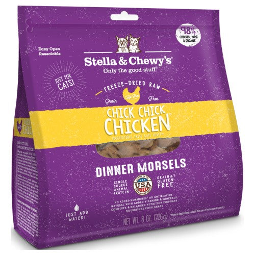 Stella & Chewy's, Cat Food, Freeze-Dried, Dinner Morsels, Chick, Chick, Chicken (2 Sizes)