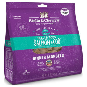 Stella & Chewy's, Cat Food, Freeze-Dried, Dinner Morsels, Sea-licious Salmon & Cod