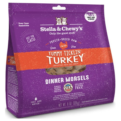 Stella & Chewy's, Cat Food, Freeze-Dried, Dinner Morsels, Tummy Ticklin' Turkey (2 Sizes)