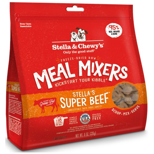 Stella & Chewy's, Dog Food, Meal Mixers, Freeze Dried, Super Beef (2 Sizes)