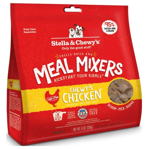 Stella & Chewy's, Dog Food, Meal Mixers, Freeze Dried, Chewy's Chicken (2 Sizes)
