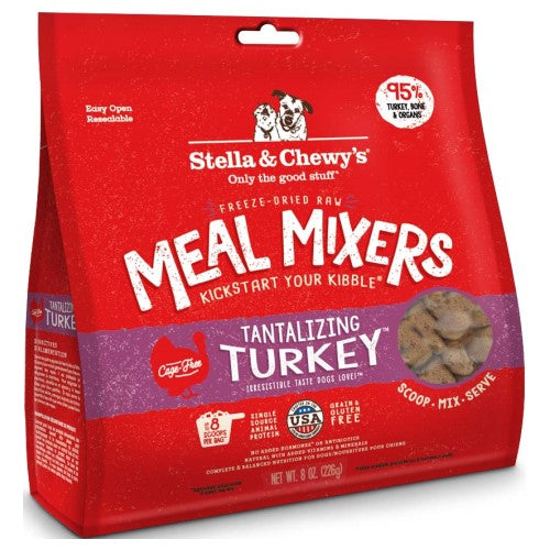 Stella & Chewy's, Dog Food, Meal Mixers, Freeze Dried, Tantalizing Turkey (2 Sizes)